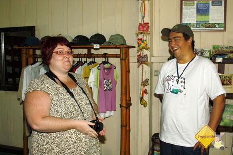 Reencontrando o Luís, um dos responsáveis pelo clima gentil de receptividade da Estância Mimosa. Imagem: Erik Pzado