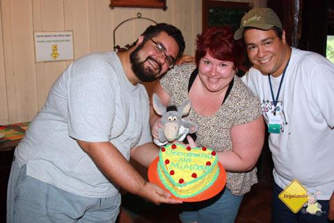 Erik, Jegueton, Jana e Luís. Noivado comemorado na Estância Mimosa.
