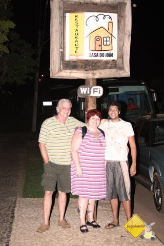 Seu Luiz Octávio, Jana Calaça e Felipe Caran. Imagem: Erik Pzado
