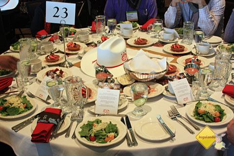 Almoço oferecido pelo Calgary Stampede aos participantes do Go Media 2011. Imagem: Erik Pzado