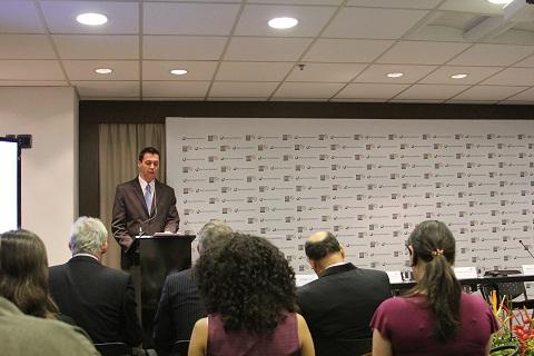 Lançamento da WTM - Latin America aconteceu em São Paulo, cidade que sediará o evento. Imagem: Janaína Calaça