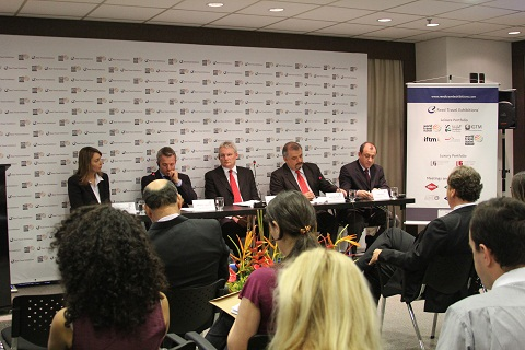 Lançamento da WTM - Latin America. Feira não visa concorrer com ABAV, mas gerar networking e negócios. Imagem: Janaína Calaça
