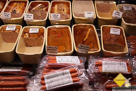 Patês e frios. Premiere Moisson, Marché Jean-Talon (Jean-Talon Market), Montréal, Canadá. Imagem: Erik Pzado