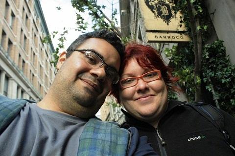 Erik Pzado e Jana Calaça em Montréal, Canadá. Imagem: Erik Pzado