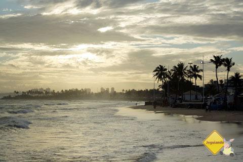 Fim de tarde dourado em Itapoã. Salvador, Bahia. Imagem: Janaína Calaça