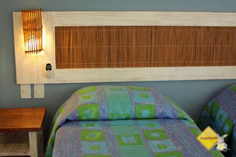 Quarto duplo. Garantia de sossego e tranquilidade. Hotel Via dos Corais, Praia do Forte, Bahia. Imagem: Janaína Calaça
