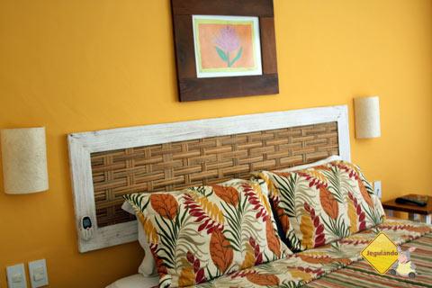 Quarto casal. Conforto, aconchego e tranquilidade. Hotel Via dos Corais, Praia do Forte, Bahia. Imagem: Janaína Calaça
