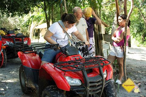 Teste para saber se o visitante está apto ou não para fazer o passeio. Imagem: Janaína Calaça