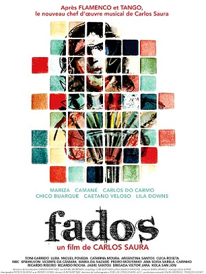"""""""Fados"""", de direção de Carlos Saura, traz cantores de várias nacionalidades entoando canções tradicionais do ritmo português."""
