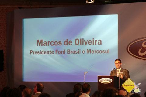 Marcos de Oliveira, Presidente Ford Brasil e Mercosul. Imagem: Erik Pzado