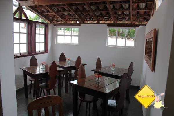 Área de café da manhã. Pousada do Ó, Tiradentes, MG. Imagem: Erik Pzado