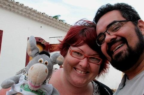 Jegueton, Jana e Erik durante a viagem a Minas Gerais. Imagem: Jeguiando