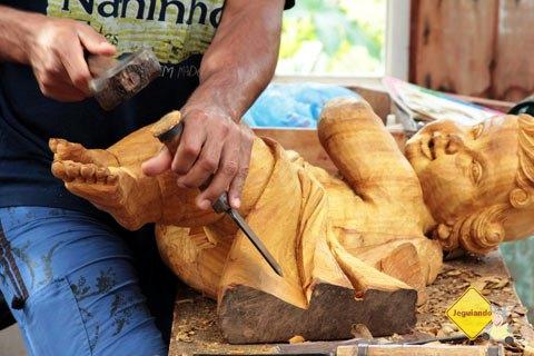 Silas Vilela, arte em madeira. Bichinho, MG. Imagem: Erik Pzado