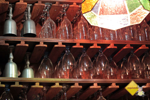 Taças. Restaurante Spaguetti, Tiradentes, MG. Imagem: Erik Pzado