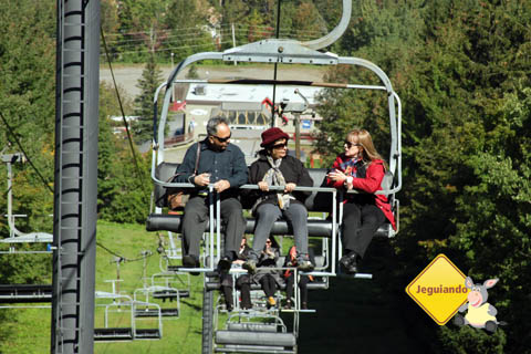 Kishore, Smita e Danie. Mont Sutton, Eastern Townships, Canadá. Imagem: Jeguiando