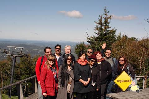 No topo do Mont Sutton. Eastern Townships, Canadá. Imagem: Jeguiando