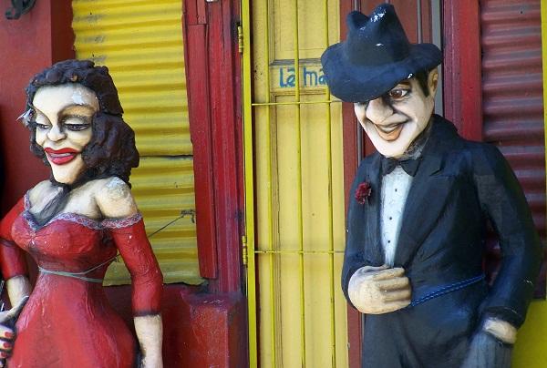 Gardel. Caminito, Buenos Aires, Argentina. Imagem: Jeguiando