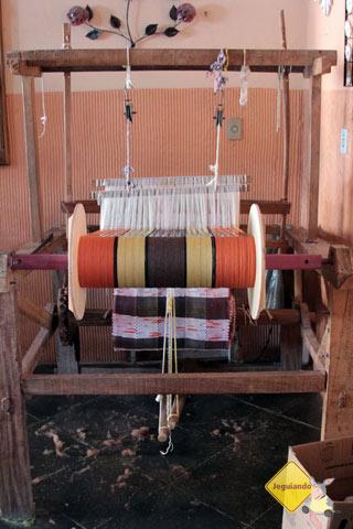 Tear. Resende Costa, Minas Gerais, cidade é parada obrigatória para os interessados em arte têxtil. Imagem: Erik Pzado