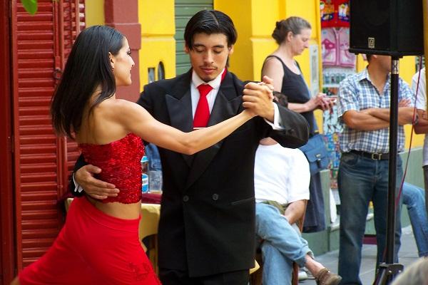 Tango no Caminito. Buenos Aires, Argentina. Imagem: Jeguiando