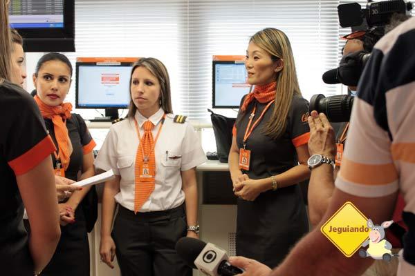 Tripulação da Gol 100% feminina para celebrar o Dia das Mulheres. Imagem: Janaína Calaça