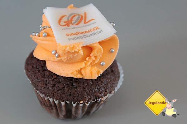 Cupcakes especialmente feitos pela Gol em homenagem ao Dia das Mulheres! Imagem: Janaína Calaça