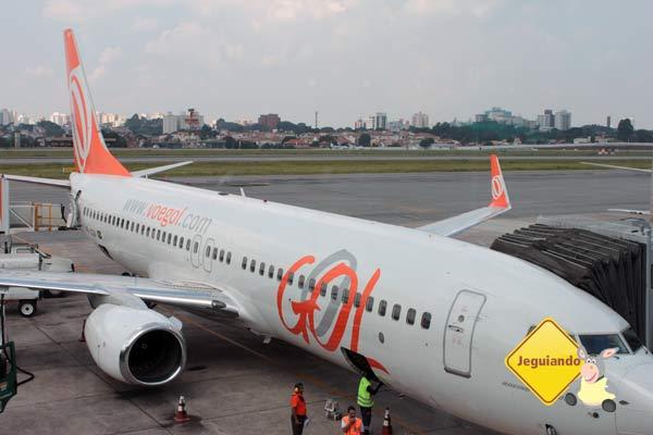 Aeronaves Gol no pátio. Imagem: Janaína Calaça