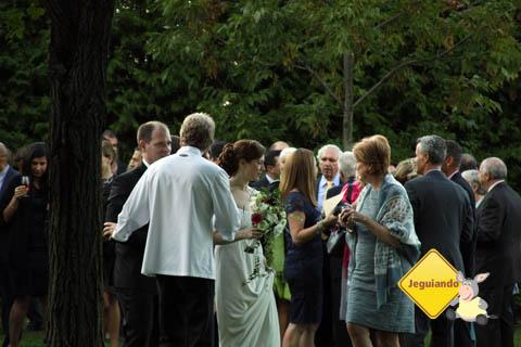 Casamentos ao ar livre na Vinícola de l'Orpailleur, Dunham, Canadá. Imagem: Erik Pzado