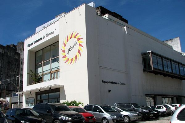 Antigo cine Glauber Rocha e atual Espaço Unibanco de Cinema. Filmes bacanas, bom café e um terraço com vista para a Baía de Todos os Santos. Imagem: Janaína Calaça