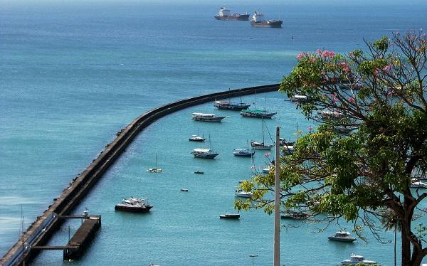 Vista para a Baía de Todos os Santos a partir do Espaço Unibanco de Cinema. Imagem: Janaína Calaça