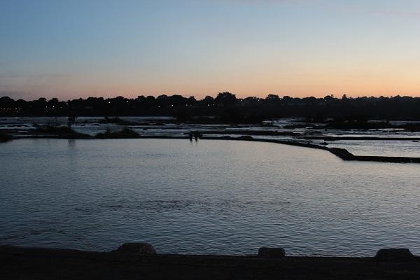 Pôr do sol no Rio São Francisco. Imagem: Janaína Calaça