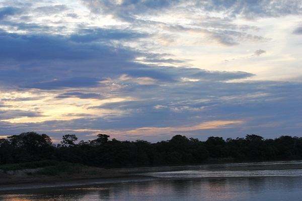Pôr do sol em Ibiaí, MG. Imagem: Janaína Calaça