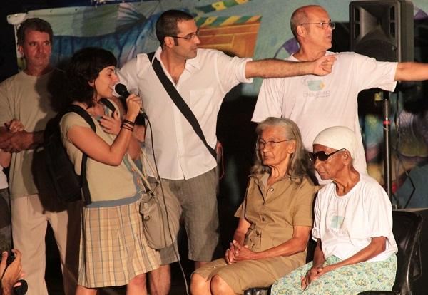 Clarisse, Helvécio Marins Jr., Inácio Neves, Bastu e Maria do Boi. Imagem: Janaína Calaça