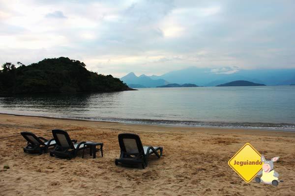Mar visto da praia do resort. Imagem: Erik Pzado