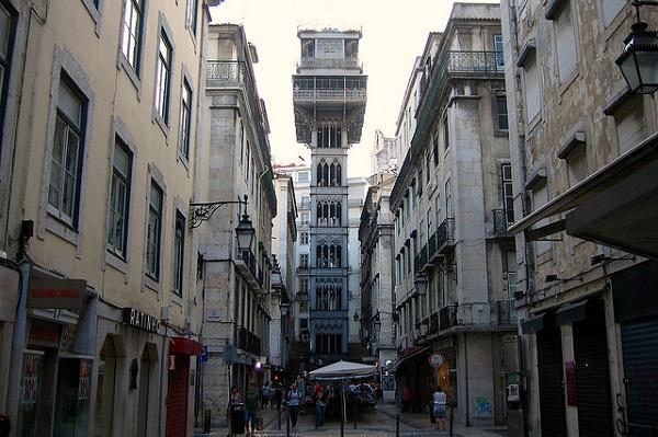Elevador Santa Justa, Lisboa. Imagem: Fasiso