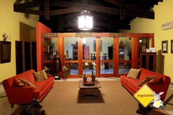 Recepção e lojinha. Canto da Floresta Eco Resort, Amparo, SP. Imagem: Erik Pzado