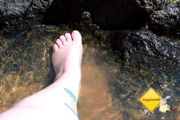 Na cachoeira. Canto da Floresta Eco Resort, Amparo, SP. Imagem: Erik Pzado