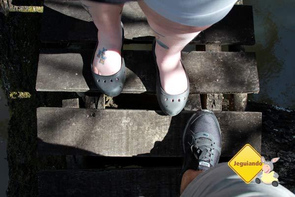 Nós dois na ponte. Imagem: Erik Pzado