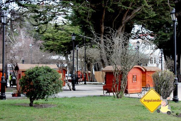 Plaza Muñoz Gamero. Punta Arenas, Chile. Imagem: Janaína Calaça