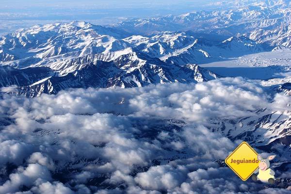 Cordilheira dos Andes vista do avião. Imagem: Janaína Calaça