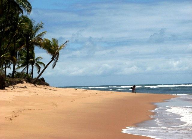 Praia de Taipu de Fora, em frente à pousada. Imagem: Janaína Calaça