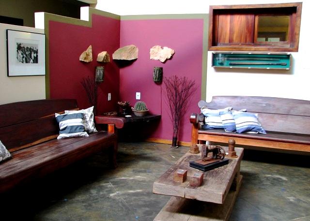 Lobby. Pousada Taipu de Fora, Península do Maraú, Bahia. Imagem: Janaína Calaça