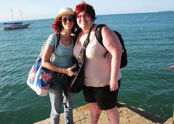 Lorena Grisi e Jana Calaça em Barra Grande! Ieba!!! Imagem: Jeguiando