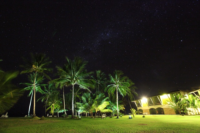 Pousada Taipu de Fora à noite. Imagem: Haroldo Magalhães