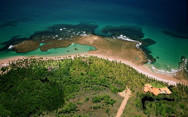Vista aérea da Pousada Taipu de Fora. Península do Maraú, Bahia. Imagem: Haroldo Magalhães