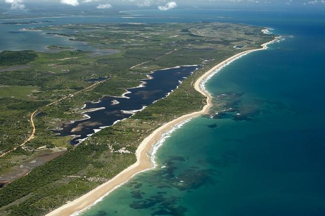Vista aérea da Península de Maraú. Imagem: Haroldo Magalhães