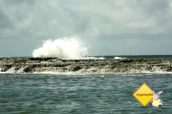 Quebra-mar de Jauá, Bahia. Imagem: Erik Pzado