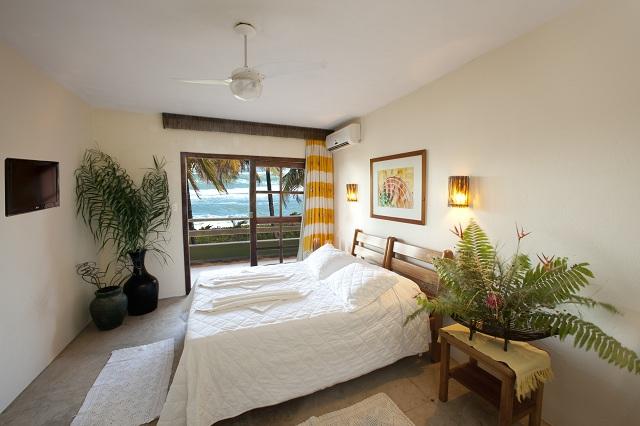Suite standard da Pousada Taipu de Fora. Península do Maraú, Bahia. Imagem: Haroldo Magalhães