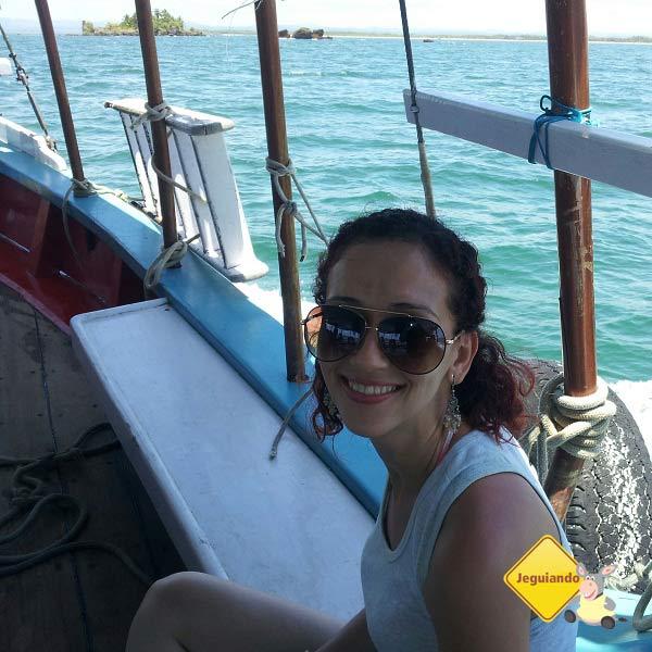Lorena Grisi, minha companheira nesta viagem, rumo à Ilha de Pedra Furada. Imagem: Janaína Calaça
