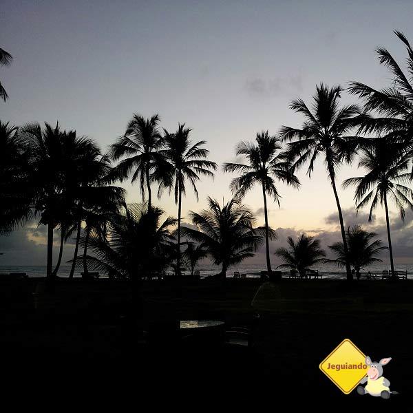 Praia de Taipu de Fora no fim do dia. Imagem: Janaína Calaça