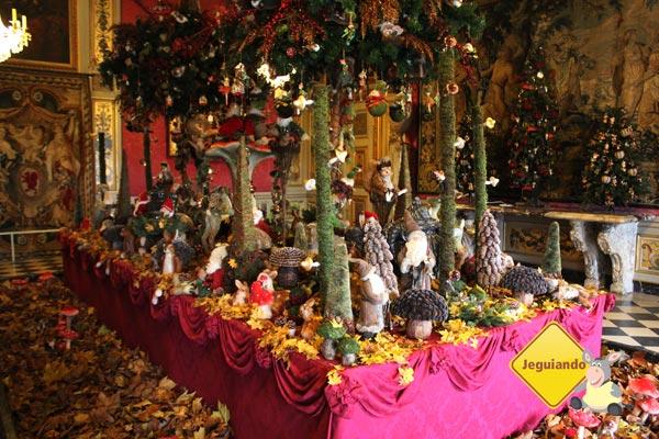 Já é Natal no Château de Vaux Le Vicomte, Paris, França. Imagem: Janaína Calaça